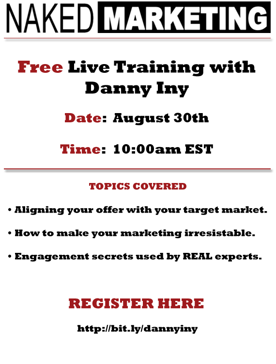 Danny Iny Marketing Webinar