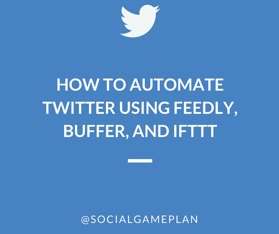 How To Automate Twitter Feedly Buffer IFTTT