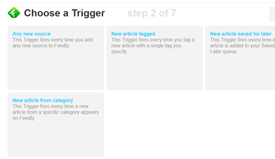 feedly-ifttt step 2