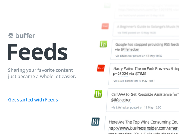 Recent Additions to Buffer - RSS Feeds and Content Suggestions