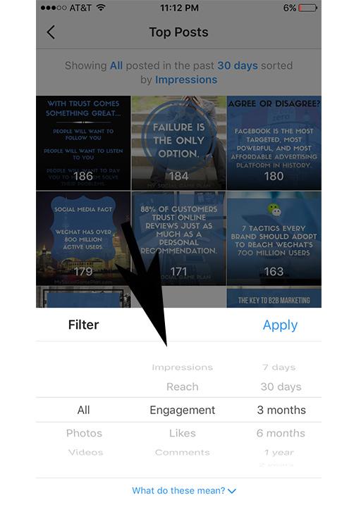 Instagram Analytics Filter