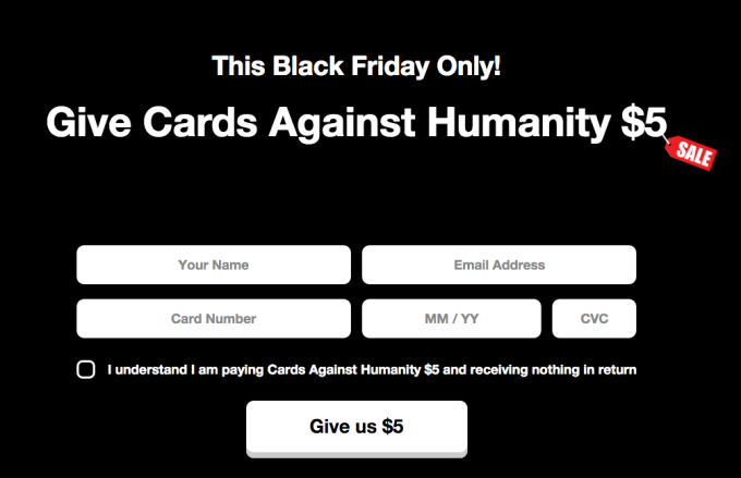 Cards Against Humanity Marketing